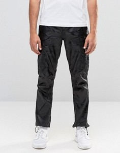 Черные прямые брюки с камуфляжным принтом ASOS - Черный