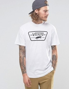 Белая футболка с логотипом-нашивкой Vans V00QN8YB2 - Белый
