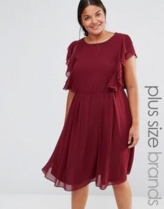 Платье с оборками Lovedrobe - Красный