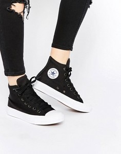 Высокие черные кроссовки Converse Chuck Taylor II - Черный