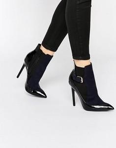 Ботинки челси на каблуке Paper Dolls Ryder - Темно-синий