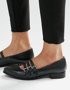 Туфли на плоской подошве London Rebel - Черный