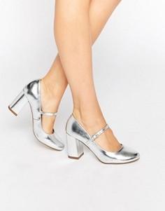 Туфли на высоком каблуке Carvela Kool Mary Jane - Серебряный