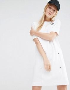 Трикотажное платье-премиум Nike - Белый