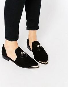 Остроносые туфли на плоской подошве ASOS MELODY - Черный