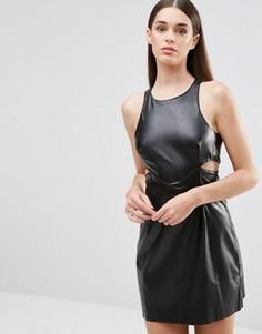 Полиуретановое платье с вырезами TFNC - Черный
