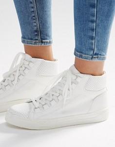 Высокие кроссовки ASOS DOWN LOAD - Белый