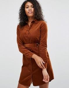 Платье-рубашка с поясом Brave Soul - Коричневый