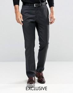 Строгие шерстяные брюки скинни Heart & Dagger - Серый