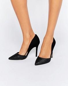 Туфли-лодочки из 2 частей на каблуке Miss KG - Черный
