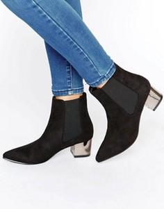 Ботильоны на среднем каблуке с заостренным носком Truffle - Черный