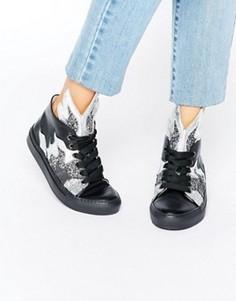 Высокие кроссовки с блестками Minna Parikka Thunderball - Мульти