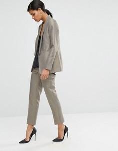 Узкие брюки с высокой талией и оттенком металлик ASOS - Золотой