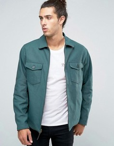 Двусторонняя куртка Харрингтон Brixton Cascade - Зеленый