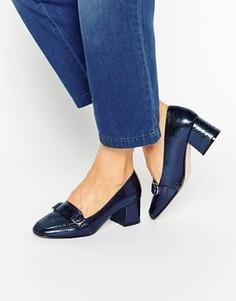 Лоферы с квадратным носком ASOS ON TIME - Темно-синий