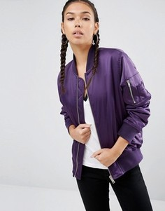 Бомбер ASOS Ultimate - Фиолетовый