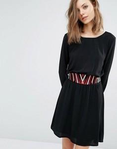 Платье со съемным поясом Ba&sh Elton - Черный Ba&Sh