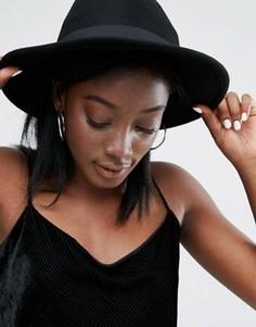 Шерстяная фетровая шляпа с плоскими полями ALDO - Черный
