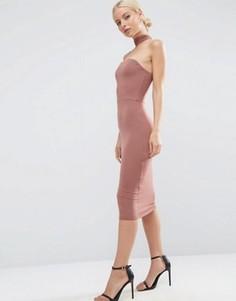 Платье-футляр миди ASOS - Бежевый