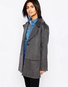 Шерстяное пальто Pepe Jeans Trent - Серый
