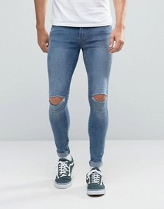 Супероблегающие джинсы Dr Denim Dixy - Синий