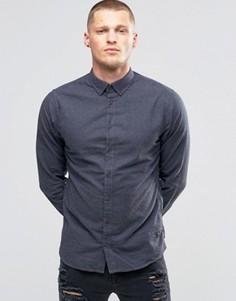Серая фланелевая рубашка зауженного кроя на пуговицах Blend - Серый