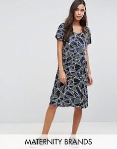 Цельнокройное платье с графическим принтом Mamalicious - Мульти Mama.Licious