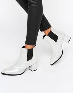 Ботинки челси на каблуке Park Lane Interest Material - Серебряный
