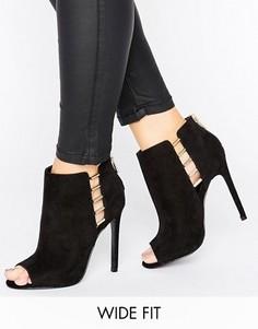 Туфли для широкой стопы на каблуке ASOS PAN - Черный