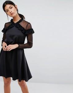 Платье Y.A.S Roman - Черный
