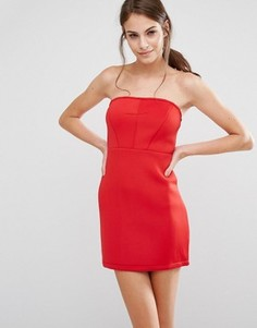 Облегающее платье-бандо Pixie & Diamond - Красный