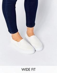 Кроссовки-слипоны для широкой стопы ASOS DULCIE - Белый