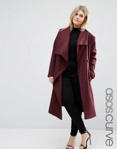 Пальто-трапеция ASOS CURVE - Красный