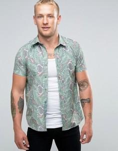 Рубашка с короткими рукавами Mambo Tiki - Белый