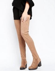 Ботфорты на каблуке Glamorous - Коричневый