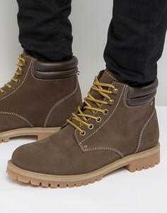 Нубуковые ботинки Jack & Jones Stoke - Коричневый