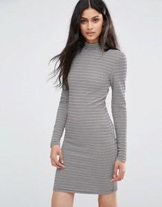 Платье-джемпер в полоску Blend She Emma - Серый
