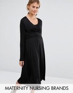Платье для кормящей мамы Mamalicious - Черный Mama.Licious