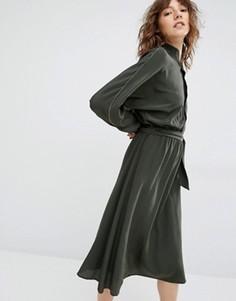 Платье миди Gestuz Kate - Зеленый