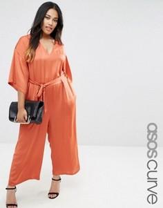 Комбинезон с поясом ASOS CURVE - Оранжевый