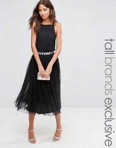 Тюлевая юбка миди с пайетками Maya Tall - Черный