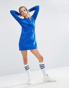 Трикотажное платье мини с капюшоном ASOS - Синий