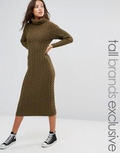 Платье-водолазка миди Glamorous Tall - Зеленый