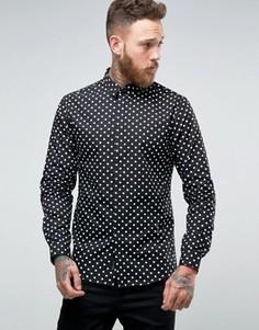 Строгая рубашка слим с принтом Religion - Черный