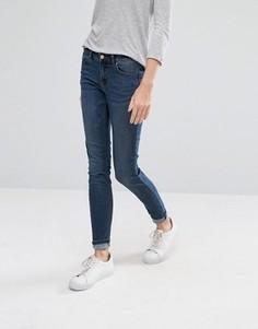 Темно-синие джинсы скинни Vila - Темно-синий