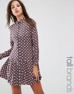 Платье-рубашка Brave Soul Tall - Мульти
