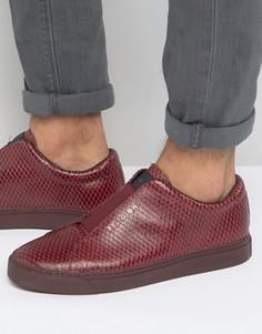 Кроссовки с эффектом змеиной кожи Religion - Красный