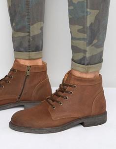 Кожаные ботинки Selected Homme Trevor - Рыжий