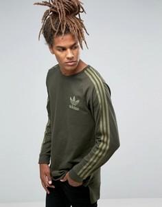 Лонгслив adidas Originals Adicolour B10715 - Зеленый