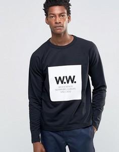 Легкий свитшот с логотипом Wood Wood Tyrone - Черный